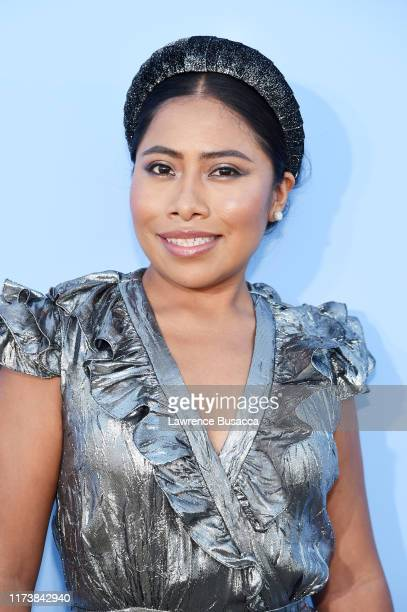 Yalitza Aparicio poses backstage during the Michael Kors Collection Spring 2020 Runway Show on September 11, 2019 in Brooklyn City.
