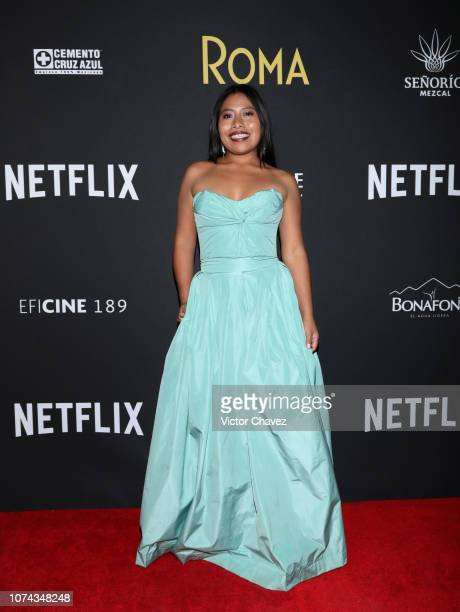 Yalitza Aparicio poses during the premiere of the Netflix movie Roma at Cineteca Nacional on December 18 2018 in Mexico City Mexico
