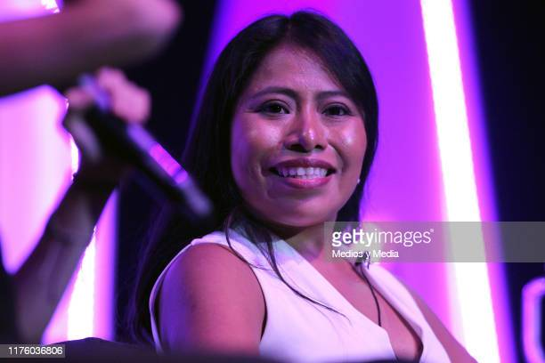 Yalitza Aparicio speaks during a press conference on Tec's Gender Equality Forum at Tec de Monterrey on September 20, 2019 in Mexico City, Mexico.