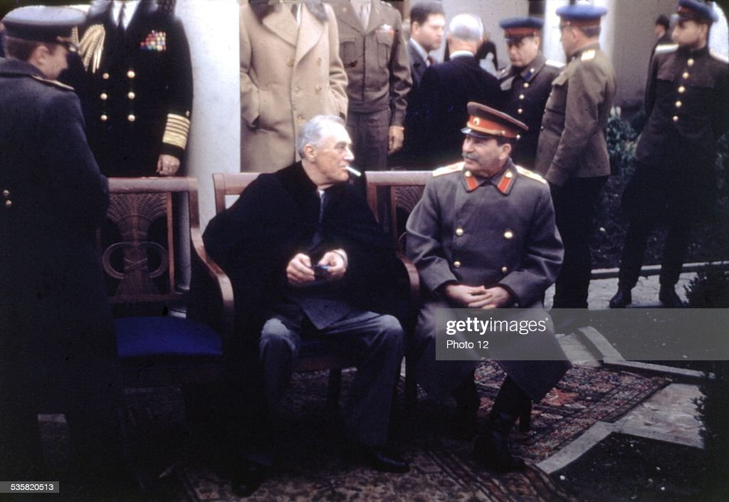 Yalta Conference Crimea Roosevelt And Stalin Pictures Getty Images