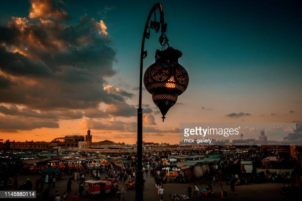 yamaa el fna marrakech place - diya oil lamp stock pictures, royalty-free photos & images