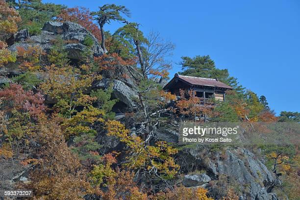 Yamadera temple of autumn