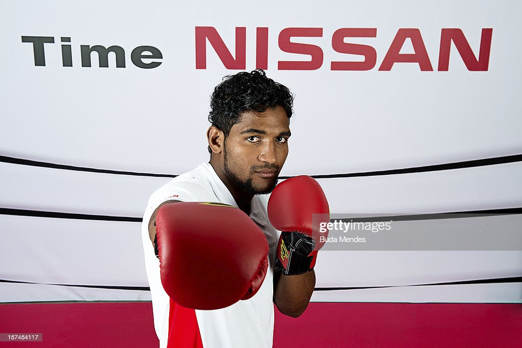 Yamaguchi Falc‹o poses for a picture during the presentation of Team Nissan for Rio de Janeiro Olympics Games 2016 at Cine Lagoon on November 27, 2012 in Rio de Janeiro, Brazil.