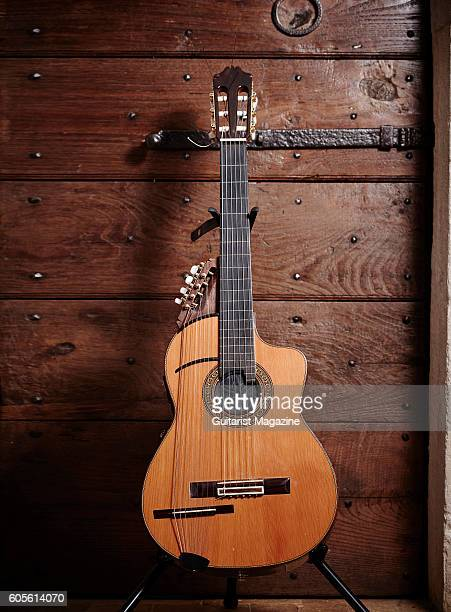 Yamaha acoustic guitar belonging to Italian musician and composer Antonio Forcione photographed in London on January 6 2016