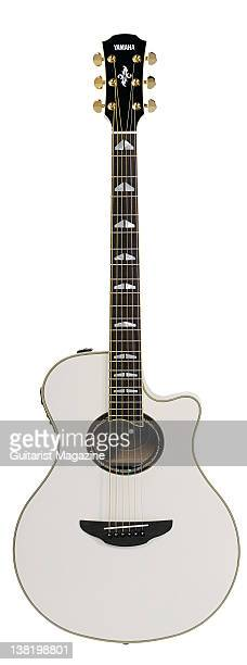 A Yamaha APX1000 acoustic guitar During a studio shoot for Guitarist Magazine May 3 2011