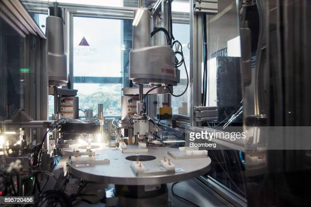 A Yamaha Corp machine sits at the HiP International Ltd production facility in Singapore on Thursday Oct 5 2017 HiP is heading for its largest annual...