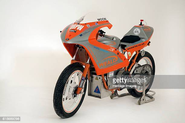 Yamaha Electric dragster motorcycle converted to electricity in 2011. Artist Unknown.