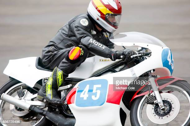 Yamaha TZ350F in the Hailwood Trophy race during the 75th Member's Meeting at Goodwood on March 18 2017 in Chichester England