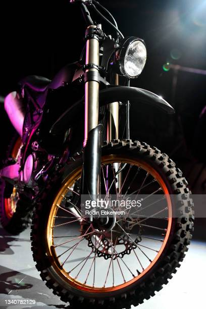 Yamaha YZ250F motorcycle at the F9 Fest event on the Universal Studios backlot celebrating F9: The Fast Saga on September 15, 2021 in Universal City,...