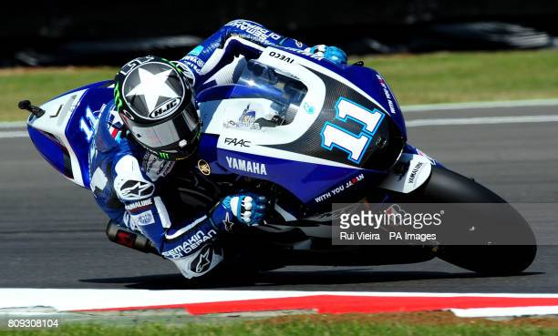 Yamaha's Ben Spies of the USA during MotoGP free practice 3 during the 2011 Airasia British Moto GP Qualifying Day at Silverstone Circuit Silverstone