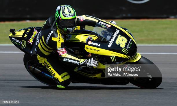 Yamaha's Cal Crutchlow of Great Britain during MotoGP free practice 3 during the 2011 Airasia British Moto GP Qualifying Day at Silverstone Circuit...