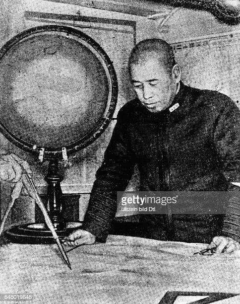 Yamamoto Isoroku Admiral Japan commanderinchief of the Combined Fleetduring World War II in the cabin of his flagship