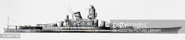Yamato battleship Japan drawing