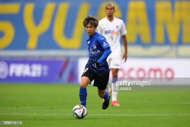 Yamato MACHIDA of Oita Trinita in action during the J.League Meiji Yasuda J1 match between Oita Trinita and Sanfrecce Hiroshima at Showa Denko Dome...