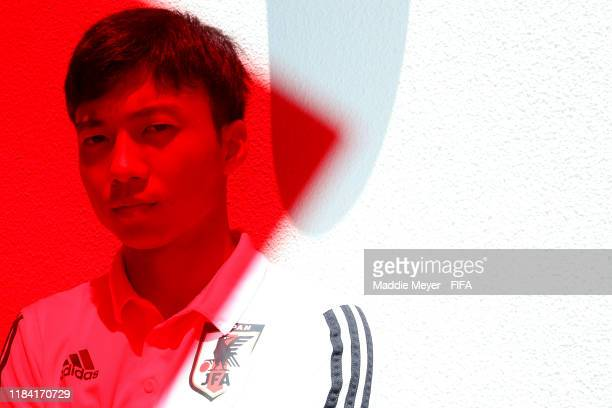 Yamato Wakatsuki of Japan poses for a portrait at the Sheraton Vitoria Hotel during the FIFA U17 World Cup Brazil 2019 on October 29 2019 in Vitoria...