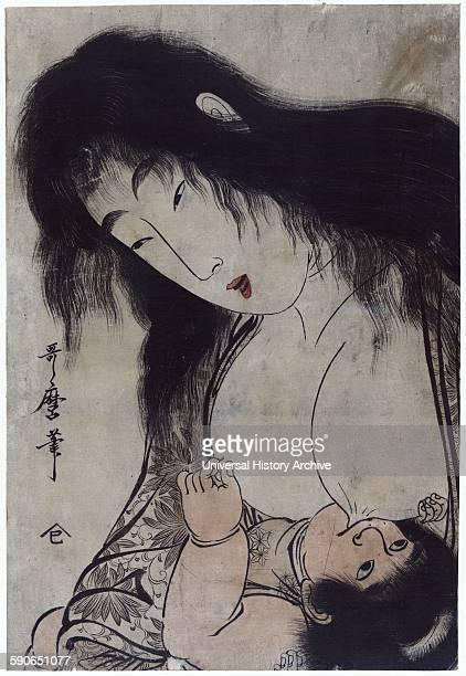 Yamauba breast feeding Kintaro