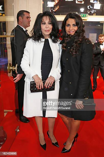 Yamina Benguigui and her daughter Liza attend the Cesar Film Awards 2013 at Theatre du Chatelet on February 22 2013 in Paris France