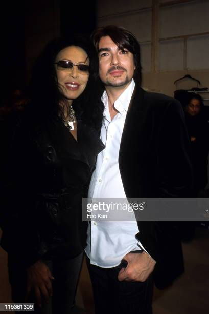 Yamina Benguigui and Stephane Roland during Paris Fashion Week Ready To Wear Fall/Winter 2005 Jean Louis Scherrer Show at Backstage Carrousel Du...