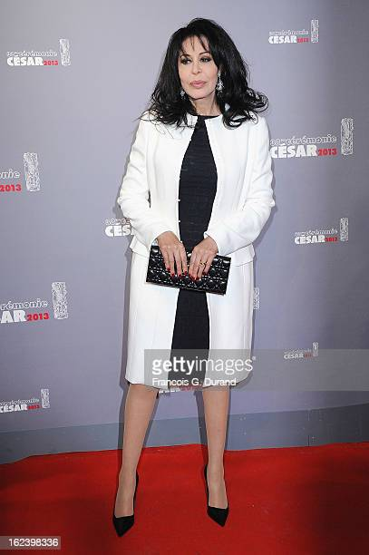 Yamina Benguigui arrives at Cesar Film Awards 2013 at Theatre du Chatelet on February 22 2013 in Paris France