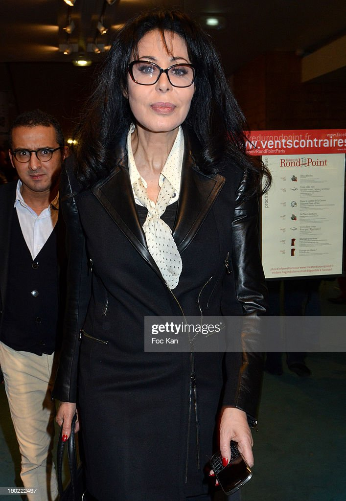 Yamina Benguigui attends 'Mariage Pour Tous' at Theatre du Rond-Point on January 27, 2013 in Paris, France.
