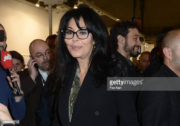 Yamina Benguigui attends the 40th FIAC Exbibition Preview At Le Grand Palais on October 23 2013 in Paris France