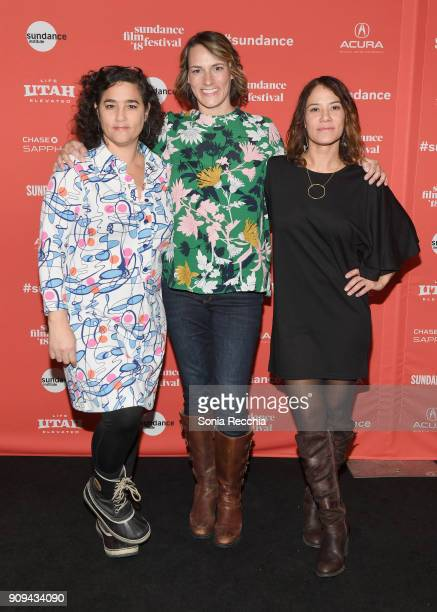 Yamit Shimonovitz Amy Adrion and Soraya Selene attend the 'Half The Picture' Premiere during the 2018 Sundance Film Festival at Prospector Square...