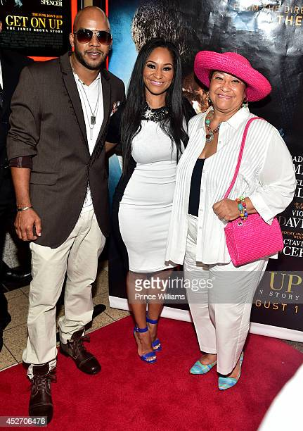 Yamma Brown Diedre Jenkins Brown attend the screening of Get On Up at Regal Atlantic Station on July 25 2014 in Atlanta Georgia