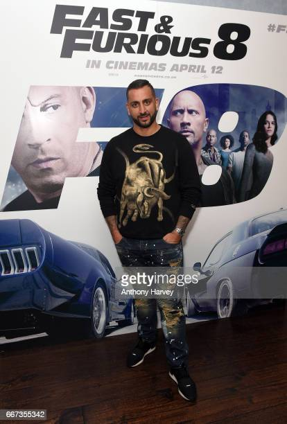 Yammy attends a special screening of Fast Furious 8 at Soho Hotel on April 11 2017 in London England Fast Furious 8 will be released in cinemas on...