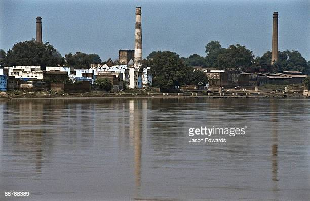 Factory pollution on the Yamuna River a major tributary of the Ganges.