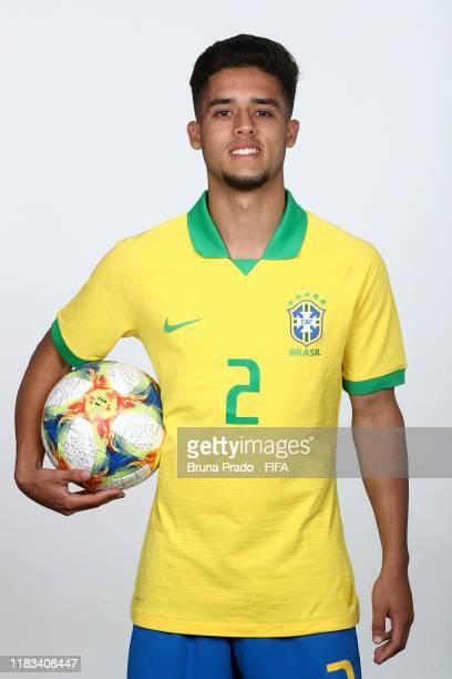 Yan Couto poses during the U17 Brazil team presentation on October 23 2019 in Brasilia Brazil