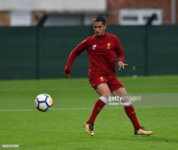 Yan Dhanda of Liverpool during a training session at Melwood Training Ground on October 9 2017 in Liverpool England