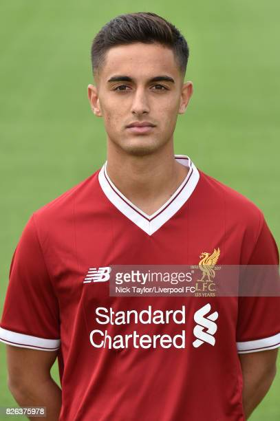 Yan Dhanda of Liverpool poses at The Kirkby Academy on August 4 2017 in Kirkby England