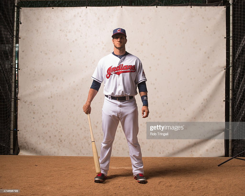 Yan Gomes #10 of the Cleveland Indians poses for a portrait at Goodyear Ballpark on February 24, 2014 in Goodyear, Arizona.