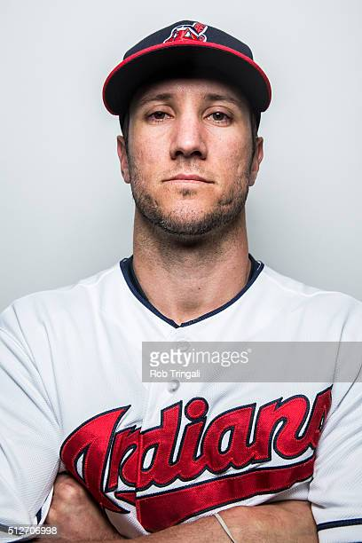 Yan Gomes of the Cleveland Indians poses for a portrait during photo day at the Cleveland Indians Development Complex on February 27 2016 in Goodyear...