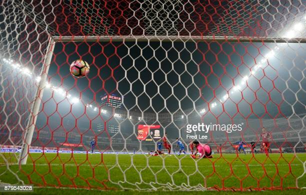 Yan Juling of Shanghai SIPG in action during the 2017 CFA Cup Final Round match between Shanghai SIPG and Shanghai Greenland Shenhua at Shanghai...