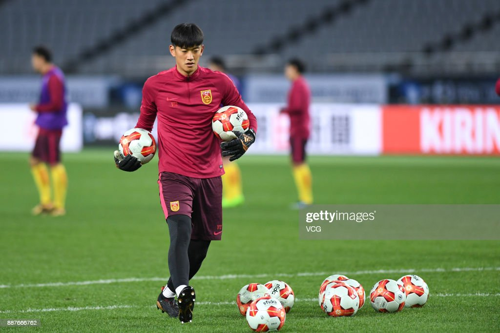 Yan Junling of China attends a training session ahead of the 2017 EAFF E-1 Football Championship Final round at Ajinomoto Stadium on December 7, 2017 in Tokyo, Japan.