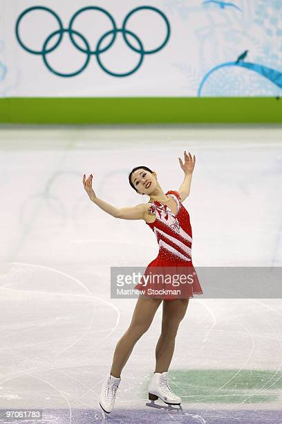 Yan Liu of China competes in the Ladies Free Skating on day 14 of the 2010 Vancouver Winter Olympics at Pacific Coliseum on February 25, 2010 in...