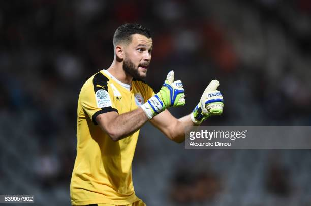 Yan Marillat of Nimes during the Ligue 2 match between Nimes and Le Havre AC at Stade des Costieres on August 25 2017 in Nimes France
