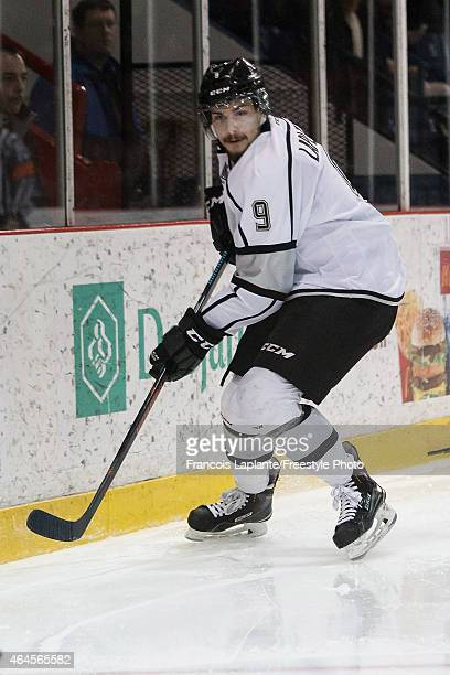 Yan Pavel Laplante of the Gatineau Olympiques skates against the Chicoutimi Sagueneens during a game on February 20 2015 at Robert Guertin Arena in...