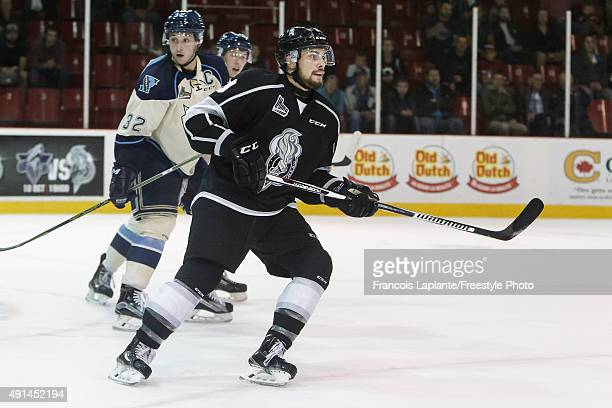 Yan Pavel Laplante of the Gatineau Olympiques skates against the Sherbrooke Phoenix on September 27 2015 at Robert Guertin Arena in Gatineau Quebec...