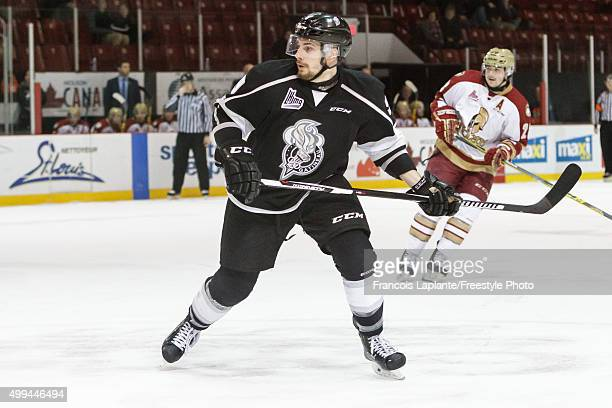 Yan Pavel Laplante of the Gatineau Olympiques skates against the AcadieBathurst Titan on November 25 2015 at Robert Guertin Arena in Gatineau Quebec...