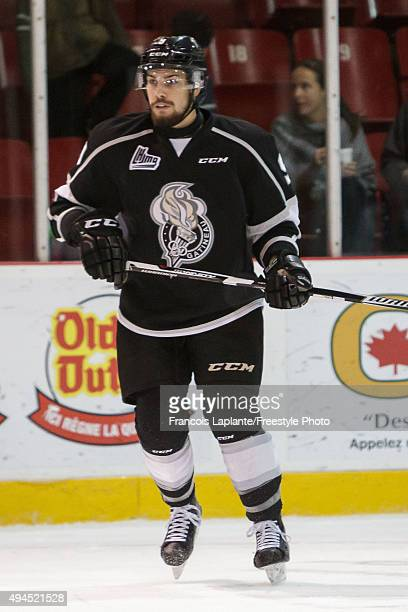 Yan Pavel Laplante of the Gatineau Olympiques skates against the Saint John Sea Dogs on October 18 2015 at Robert Guertin Arena in Gatineau Quebec...
