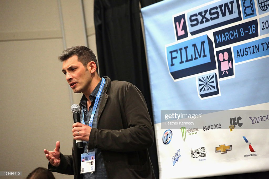 Yan Vizinberg speaks onstage at Startup Alley: Fastball Speed Pitches during the 2013 SXSW Music, Film + Interactive Festival at Austin Convention Center on March 10, 2013 in Austin, Texas.