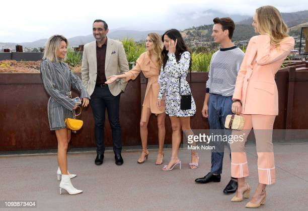 Yan Yan Chan Adam Goodes Victoria Lee Jessica Gomes Cameron Robbie and Gemma Ward attend The Art of Entertaining event ahead of the David Jones AW19...