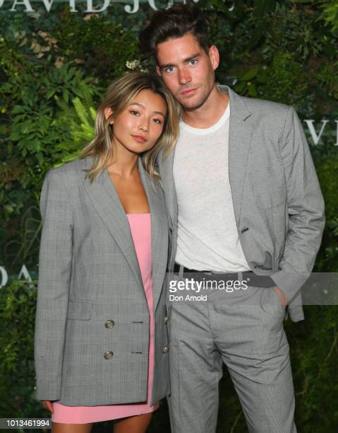 Yan Yan Chan and Nathan Jolliffe attends the David Jones Spring Summer 18 Collections Launch at Fox Studios on August 8 2018 in Sydney Australia