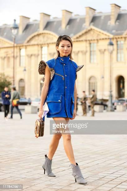 Yan Yan Chan wearing Louis Vuitton outside Louis Vuitton Paris Fashion Week Womenswear Spring Summer 2020 on October 01 2019 in Paris France
