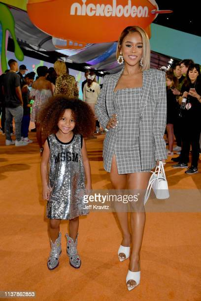 Yana and Serayah attend Nickelodeon's 2019 Kids' Choice Awards at Galen Center on March 23 2019 in Los Angeles California