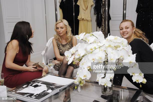Yana Balan Olga Knyazheva and Alisa Roever attend DIOR and CHRISTIE'S Celebrate International Women's Day at Christian Dior on March 8 2010 in New...
