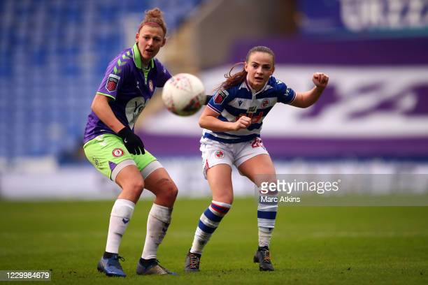 Yana Daniels of Bristol City in action with Lily Woodham of Reading during the Barclays FA Women's Super League match between Reading Women and...