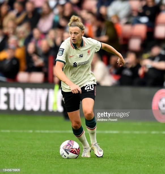 Yana Daniels of Liverpool Women during the Barclays FA Women's Championship match between Sheffield United Women and Liverpool Women at Bramall Lane...
